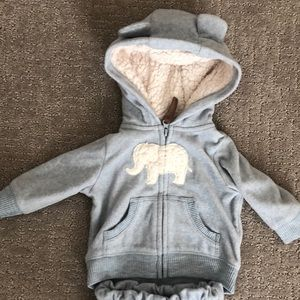 NB Super Soft Elephant Hooded Jacket